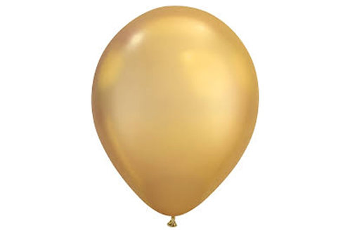 Balão Látex Chrome Dourado