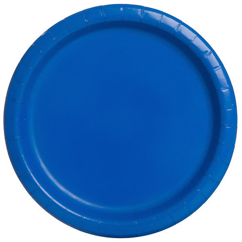 8 Pratos Azul Escuro