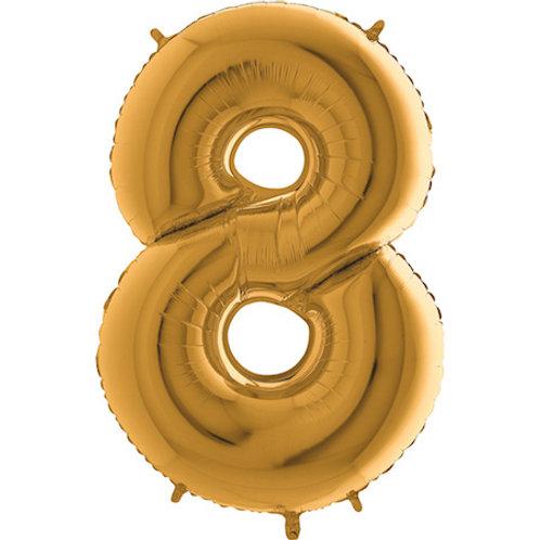 Balão Nº8 Dourado