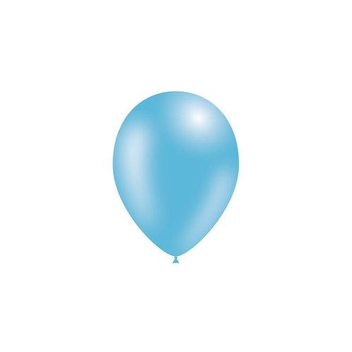 Balão Látex Metalizado Azul Claro