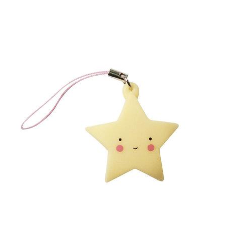 Luz Porta-Chave Estrela Amarela