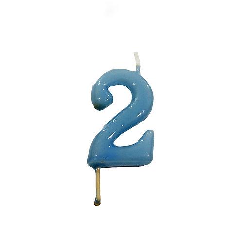 Vela Artesanal N.º2 Azul