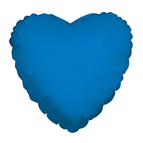 Balão Foil Coração Azul Escuro