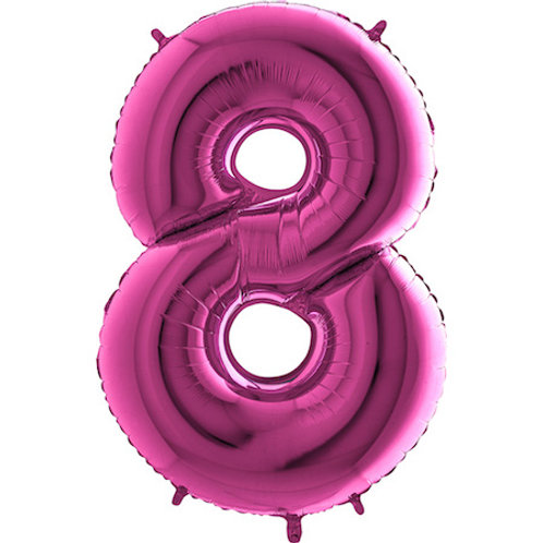 Balão Nº8 Rosa Escuro