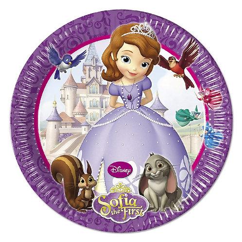8 Pratos Princesa Sofia