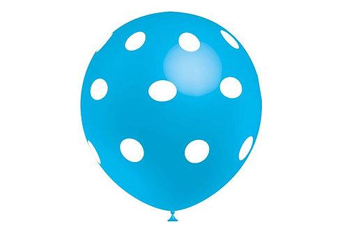 Balão Látex Bolinhas Azul