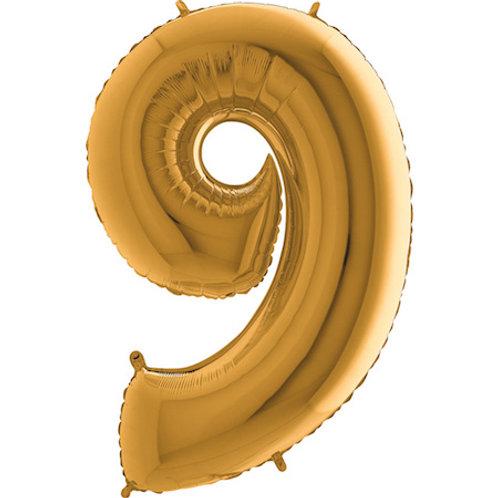 Balão Nº9 Dourado