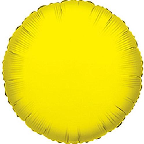 Balão Foil Redondo Amarelo