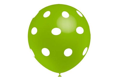 Balão Látex Bolinhas Verde