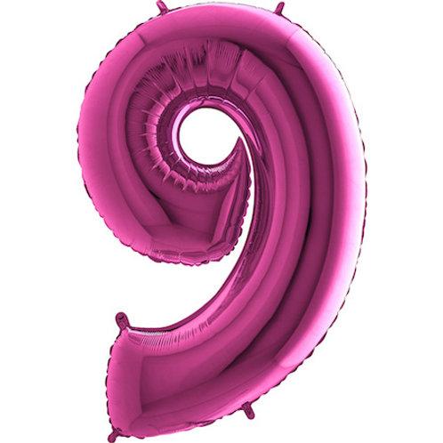 Balão Nº9 Rosa Escuro
