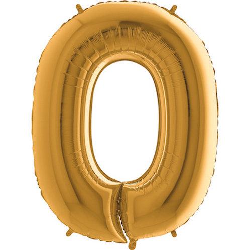Balão Nº0 Dourado
