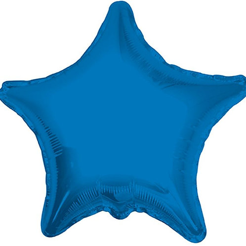 Balão Foil Estrela Azul Escuro