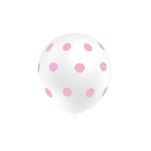 Balão Látex Bolinhas Branco