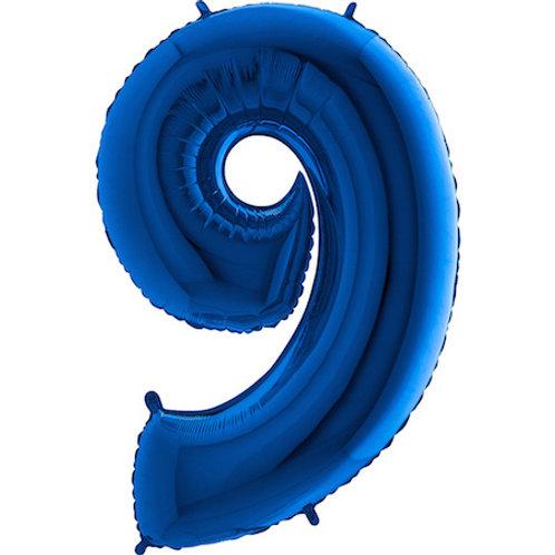 Balão Nº9 Azul Escuro