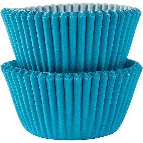100 Mini Forminhas Brigadeiros Azul Claro