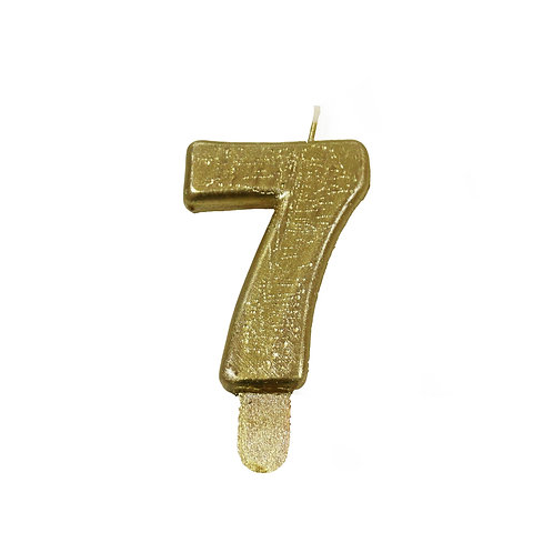 Vela Artesanal N.º7 Dourado