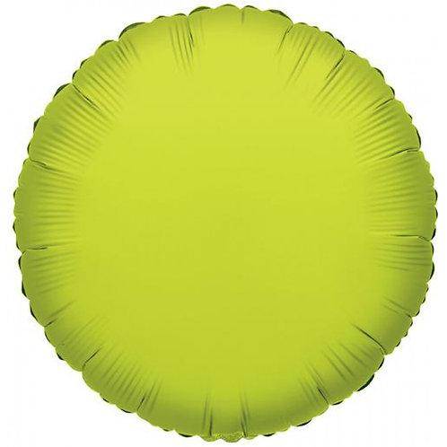 Balão Foil Redondo Verde Lima
