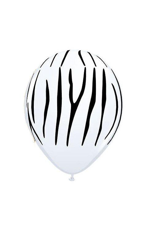 Balão Látex Selva Padrão Zebra