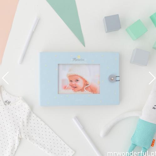 Álbum de Fotos para Bebé Azul - Momentos da Estrela da Casa