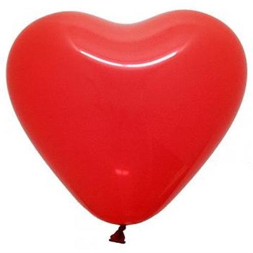 Balão Látex Coração Vermelho