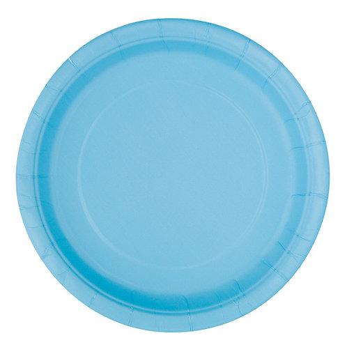 20 Pratos Azul Claro