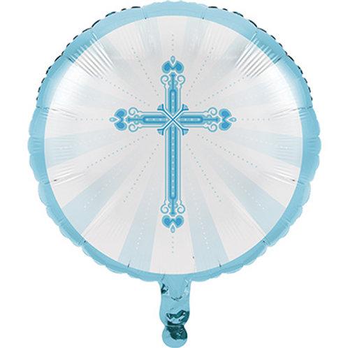 Balão Foil Azul Comunhão