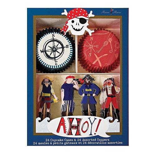 Formas de Cupcakes Pirata