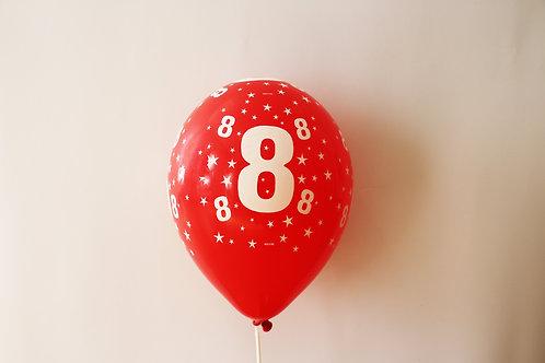 Balão Látex Nº8 Vermelho