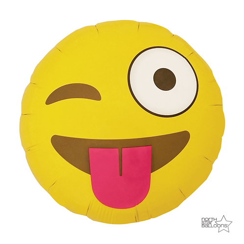Balão Foil Smile Língua de Fora