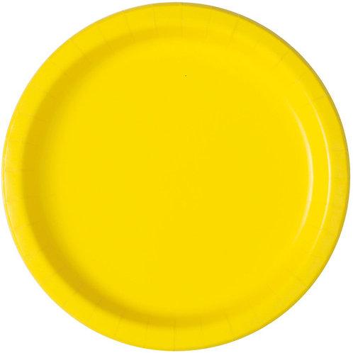 16 Pratos Amarelos