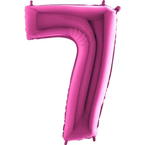 Balão Nº7 Rosa Escuro