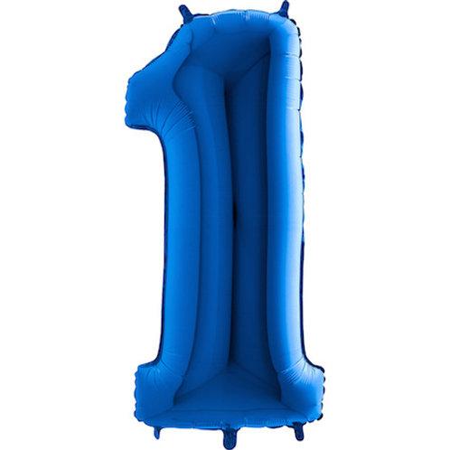 Balão Nº1 Azul Escuro