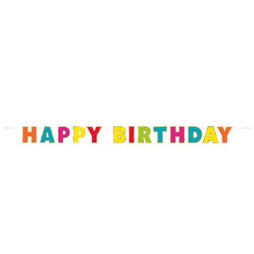 Grinalda HAPPY BIRTHDAY Colorida