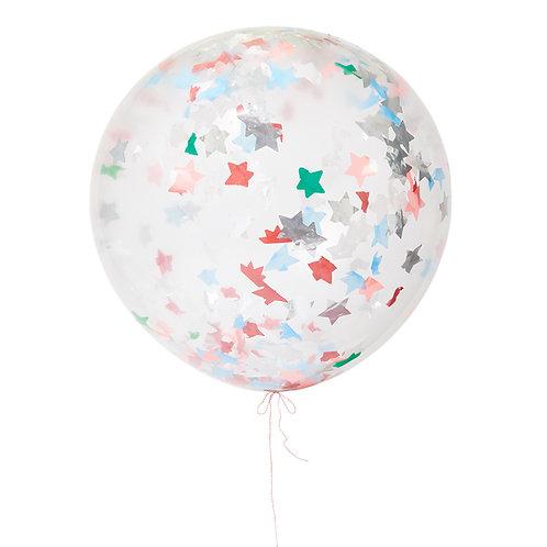 Balão Látex com Confetis 90 cm