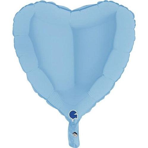 Balão Foil Coração Azul Matte