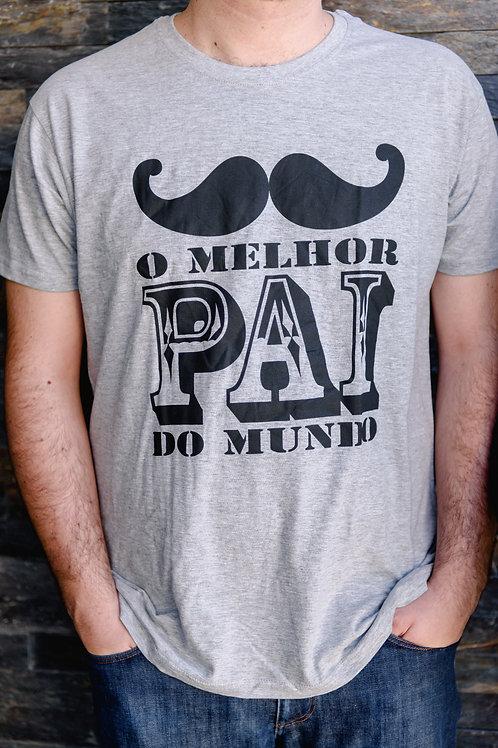 """T-Shirt """"Melhor Pai do Mundo"""" L"""