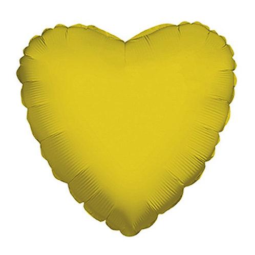 Balão Foil Coração Dourado