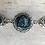 Thumbnail: Silver Steel Blue Tri Fitheach Link Bracelet