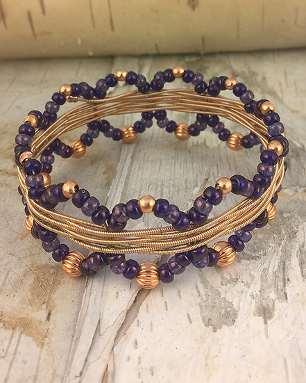 Acoustic Guitar String Bangle Vega Purple