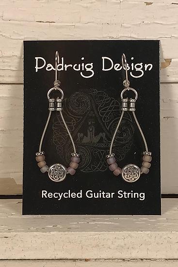 Lavender Matte Guitar String Earrings
