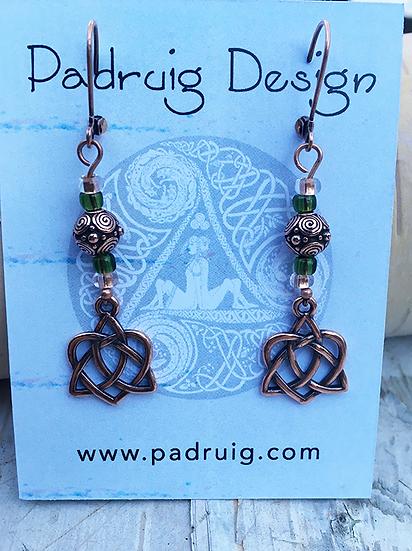 Trinity Heart Earrings