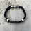 Thumbnail: Black Leather Electric Guitar String Bracelet
