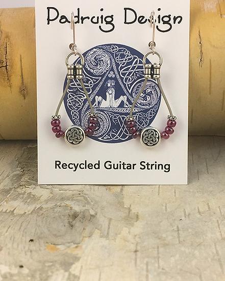 Garnet Bass String Earrings