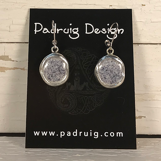 Silver Granite Crest Earrings