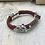 Thumbnail: Red Leather Electric Guitar String Bracelet