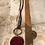 Thumbnail: Copper Garnet Troyes Star Deerskin Lace Necklace
