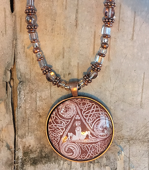 Copper Circle Of Life Necklace