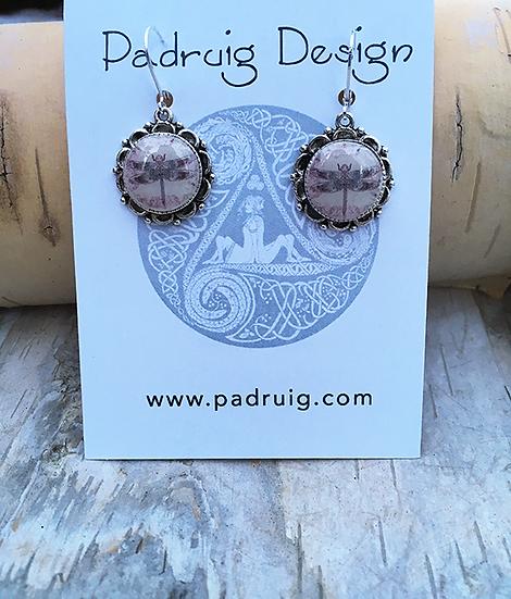 Rose Dragonfly Earrings
