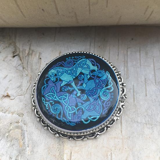 Blue Dream Horses Pin
