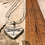 Thumbnail: Antique Silver Grey Dragonfly Heart Necklace